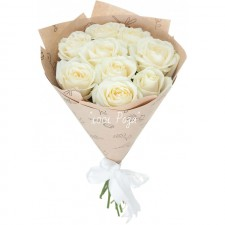 Букет №87   Букет белых роз