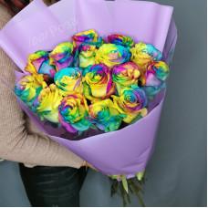 Букет №193 радужные розы