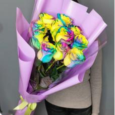 Букет №192 радужные розы