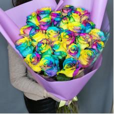 Букет №194 радужные розы