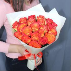 Букет №201 оранжевые розы