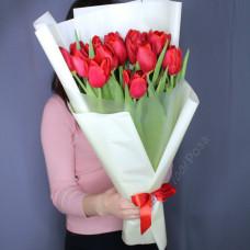Букет №197 тюльпан красный премиум