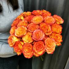 Роза оранжевая 50см