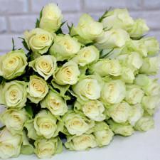 """Роза """"Атена"""" 40 см Белая роза"""