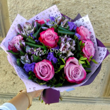 Букет №134 Букет из сиреневых роз