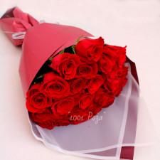 Букет №100 | Букет красных роз