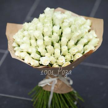Букет №112 | 85 белых роз