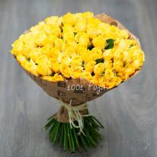Букет №113 | 101 желтая роза