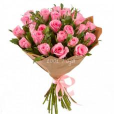 Букет №114 | 25 розовых роз