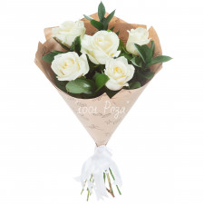 Букет №125 | Белые розы