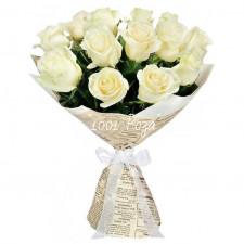 Букет №127 | Белые розы