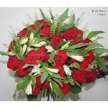 Букет №13 | Из 31 бордовой розы