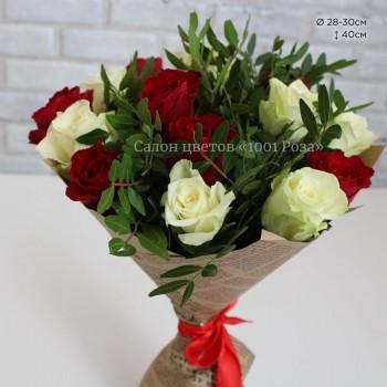 Букет №29  | 15 роз и пистиция