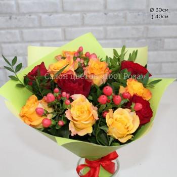 Букет №33 | Праздничный букет из 11 роз