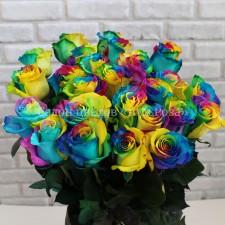 Радужная роза 60 см