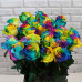 Радужная роза 50 см    Доставка необычных разноцветных роз в Барнауле недорого