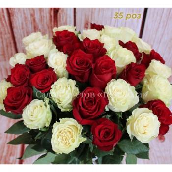 """Роза """"Фридом"""" и """"Мондиаль"""" 60 см"""