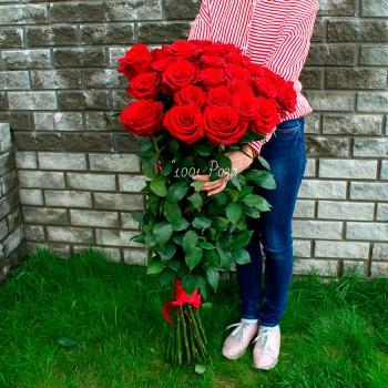 Высокая роза 120 см красная