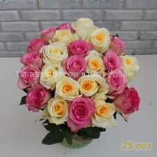 "Роза ""Крем""  и ""Свит"" 40-50 см"