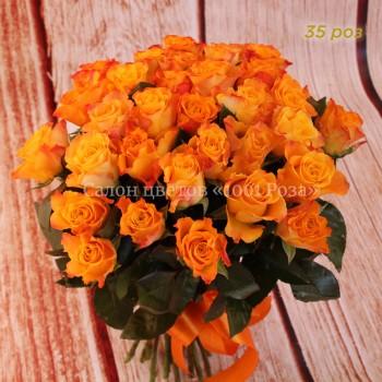 """Желтые розы """"Мерри клер"""" 40 см"""