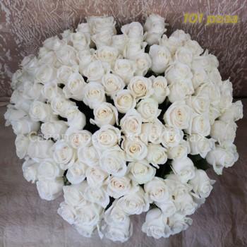 """Белая роза """"Вендела"""" 60 см"""