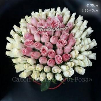 Коробка №13   101 роза 35-40 см