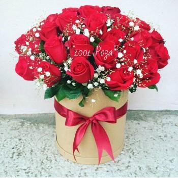 Коробка №22  |  35 красных роз