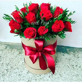 Коробка №24 | 25 красных роз
