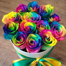 Коробка №27 | Радужные розы