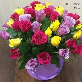 Коробка №5 | 51 роза 35 см
